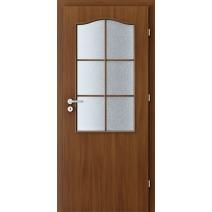 Interiérové dveře VERTE BASIC 2/3 sklo s rámečkem